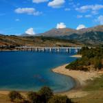 I Monti della Laga dal Ponte delle stecche vicino Agricampeggio Cardito